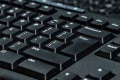 μαύρο πληκτρολόγιο υπολογιστών Στοκ Φωτογραφίες