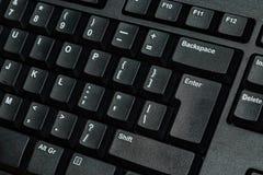 μαύρο πληκτρολόγιο υπολογιστών Στοκ Εικόνες