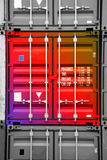 μαύρο πολύχρωμο λευκό εμπορευματοκιβωτίων 01 Στοκ φωτογραφία με δικαίωμα ελεύθερης χρήσης