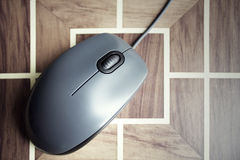 μαύρο ποντίκι υπολογιστών Στοκ φωτογραφία με δικαίωμα ελεύθερης χρήσης