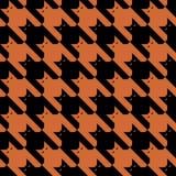 μαύρο πορτοκαλί πρότυπο catstooth Στοκ εικόνες με δικαίωμα ελεύθερης χρήσης