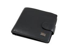 μαύρο πορτοφόλι δέρματος Στοκ εικόνα με δικαίωμα ελεύθερης χρήσης