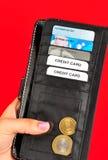 μαύρο πορτοφόλι στοκ εικόνες