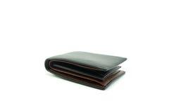 Μαύρο πορτοφόλι δέρματος στο άσπρο υπόβαθρο στοκ φωτογραφία με δικαίωμα ελεύθερης χρήσης