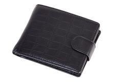 Μαύρο πορτοφόλι Στοκ εικόνες με δικαίωμα ελεύθερης χρήσης