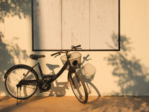 Μαύρο ποδήλατο Στοκ Εικόνες