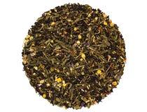 Μαύρο πράσινο βοτανικό τσάι φρούτων Στοκ Φωτογραφίες