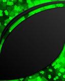 μαύρο πράσινο διάστημα μηνυ& Διανυσματική απεικόνιση