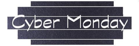 Μαύρο πρότυπο εμβλημάτων Δευτέρας Cyber Ετικέτα Δευτέρας Cyber στοκ φωτογραφία με δικαίωμα ελεύθερης χρήσης