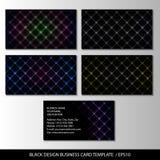 Μαύρο πρότυπο επαγγελματικών καρτών σχεδίου, περίληψη Στοκ Εικόνες