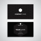 Μαύρο πρότυπο ονόματος επαγγελματικών καρτών Στοκ φωτογραφίες με δικαίωμα ελεύθερης χρήσης