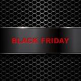 Μαύρο πρότυπο σχεδίου επιγραφής πώλησης Παρασκευής Στοκ Φωτογραφίες