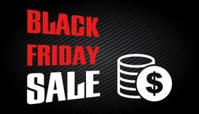 Μαύρο πρότυπο σχεδίου πώλησης Παρασκευής Στοκ Εικόνα