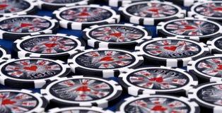 μαύρο πόκερ τσιπ Στοκ Εικόνες