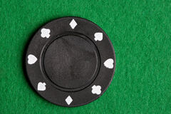 μαύρο πόκερ τσιπ Στοκ εικόνα με δικαίωμα ελεύθερης χρήσης