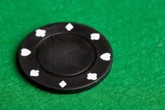 μαύρο πόκερ τσιπ Στοκ Εικόνα