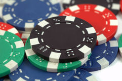 μαύρο πόκερ τσιπ Στοκ Φωτογραφίες