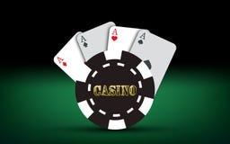 μαύρο πόκερ δύο καρτών ανασκόπησης άσσων Διανυσματικά στοιχεία χαρτοπαικτικών λεσχών Στοκ φωτογραφίες με δικαίωμα ελεύθερης χρήσης