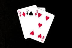 μαύρο πόκερ δύο καρτών ανασκόπησης άσσων Στοκ Φωτογραφίες