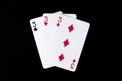 μαύρο πόκερ δύο καρτών ανασκόπησης άσσων Στοκ Εικόνα