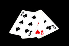 μαύρο πόκερ δύο καρτών ανασκόπησης άσσων Στοκ εικόνα με δικαίωμα ελεύθερης χρήσης