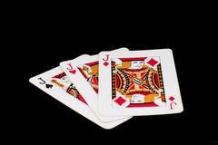μαύρο πόκερ δύο καρτών ανασκόπησης άσσων Στοκ Φωτογραφία