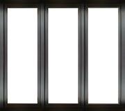 Μαύρο πλαίσιο παραθύρων μετάλλων Στοκ φωτογραφία με δικαίωμα ελεύθερης χρήσης