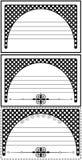 Μαύρο πλαίσιο Στοκ εικόνες με δικαίωμα ελεύθερης χρήσης