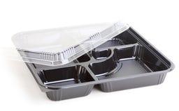 Μαύρο πλαστικό εμπορευματοκιβώτιο τροφίμων Στοκ εικόνα με δικαίωμα ελεύθερης χρήσης