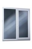 μαύρο πλαστικό διανυσματικό παράθυρο απεικόνισης πλαισίων απομονωμένος Στοκ Φωτογραφίες