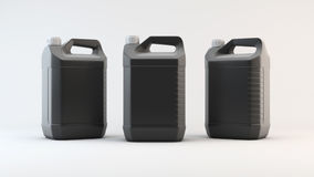 Μαύρο πλαστικό μεταλλικό κουτί για το πετρέλαιο μηχανών τρισδιάστατος δώστε Στοκ Εικόνες