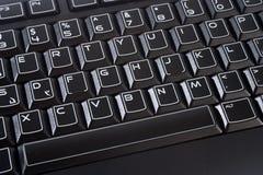 Μαύρο πληκτρολόγιο υπολογιστών Στοκ εικόνες με δικαίωμα ελεύθερης χρήσης