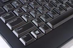 Μαύρο πληκτρολόγιο υπολογιστών Στοκ φωτογραφία με δικαίωμα ελεύθερης χρήσης