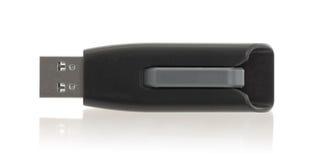 Μαύρο ραβδί μνήμης USB που απομονώνεται Στοκ εικόνα με δικαίωμα ελεύθερης χρήσης