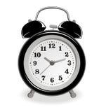 μαύρο ρολόι συναγερμών Ελεύθερη απεικόνιση δικαιώματος