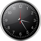 μαύρο ρολόι Στοκ φωτογραφίες με δικαίωμα ελεύθερης χρήσης