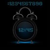 μαύρο ρολόι συναγερμών Στοκ φωτογραφία με δικαίωμα ελεύθερης χρήσης