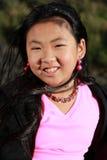 μαύρο ρόδινο χαμόγελο κο&rh στοκ φωτογραφία με δικαίωμα ελεύθερης χρήσης