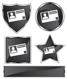 μαύρο σατέν ταυτότητας καρτών Στοκ φωτογραφία με δικαίωμα ελεύθερης χρήσης