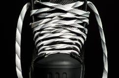 Μαύρο σαλάχι χόκεϋ Στοκ εικόνες με δικαίωμα ελεύθερης χρήσης
