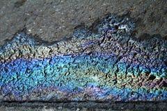 μαύρο σημείο βενζίνης καυσίμων χρώματος ασφάλτου Στοκ φωτογραφία με δικαίωμα ελεύθερης χρήσης