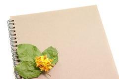 Μαύρο σημειωματάριο Ρεαλιστικό σημειωματάριο προτύπων Κενό σχέδιο κάλυψης Στοκ Εικόνα