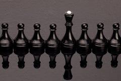 Μαύρο σκάκι Στοκ εικόνες με δικαίωμα ελεύθερης χρήσης