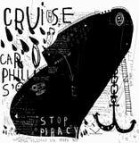 Μαύρο σκάφος Στοκ φωτογραφία με δικαίωμα ελεύθερης χρήσης