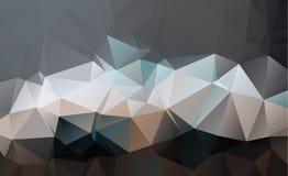 Μαύρο σκοτεινό Polygonal χαμηλό σχέδιο γεωμετρικό πρότυπο Επανάληψη του π Στοκ Φωτογραφίες