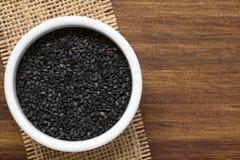μαύρο σουσάμι σπόρων Στοκ φωτογραφία με δικαίωμα ελεύθερης χρήσης