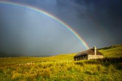 Μαύρο σπίτι της Σκωτίας Στοκ φωτογραφία με δικαίωμα ελεύθερης χρήσης