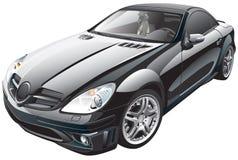 Μαύρο σπορ αυτοκίνητο Στοκ Εικόνες