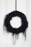 Μαύρο στεφάνι κλαδίσκων αποκριών Στοκ Φωτογραφίες