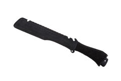 Μαύρο στρατιωτικό μαχαίρι, που απομονώνεται Στοκ φωτογραφίες με δικαίωμα ελεύθερης χρήσης